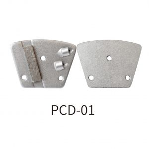 PCD grinding pad for scraping coatings