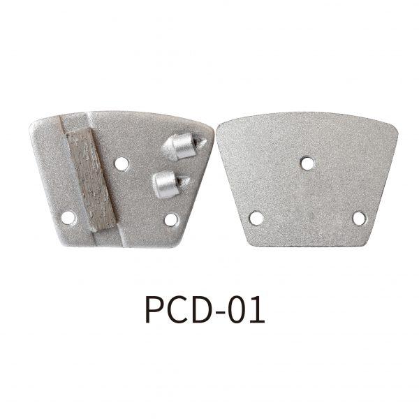 PCD grinding pad for scraping coatings